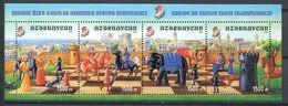 242 AZERBAIDJAN 2003 - Yvert 448/51 - Echecs Scene Elephant Cavalier Soldat - Neuf ** (MNH) Sans Trace De Charniere - Azerbaïdjan
