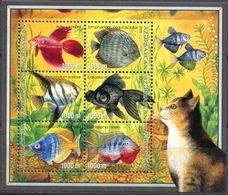 242 AZERBAIDJAN 2003 - Yvert 453/58 Feuillet - Poisson Chat - Neuf ** (MNH) Sans Trace De Charniere - Azerbaïdjan