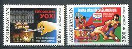 242 AZERBAIDJAN 2003 - Yvert 460/61 - Affiche Terrorisme Sport Sante - Neuf ** (MNH) Sans Trace De Charniere - Azerbaïdjan