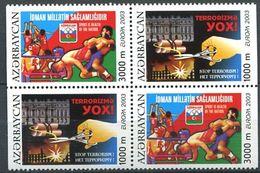 242 AZERBAIDJAN 2003 - Yvert 460a/b  461a/b - Affiche Terrorisme Sport Sante - Neuf ** (MNH) Sans Trace De Charniere - Azerbaïdjan