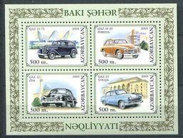 242 AZERBAIDJAN 2003 - Yvert 469/72 - Automobile A Bakou - Neuf ** (MNH) Sans Trace De Charniere - Azerbaïdjan