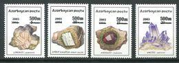 242 AZERBAIDJAN 2003 - Yvert 474/77 Surcharge - Mineraux Pierre - Neuf ** (MNH) Sans Trace De Charniere - Azerbaïdjan
