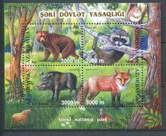 242 AZERBAIDJAN 2003 - Yvert 483/86 Feuillet - Ours Raton Sanglier Renard - Neuf ** (MNH) Sans Trace De Charniere - Azerbaïdjan