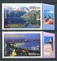 242 AZERBAIDJAN 2004 - Yvert 489/90 - Paysage De Bakou Lac - Neuf ** (MNH) Sans Trace De Charniere - Azerbaïdjan