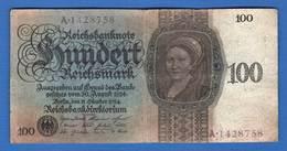 All. 100 Mark  1924 - [ 3] 1918-1933 : République De Weimar