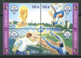 242 AZERBAIDJAN 2004 - Yvert 496/99 - Fifa Football - Neuf ** (MNH) Sans Trace De Charniere - Azerbaïdjan