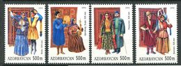242 AZERBAIDJAN 2004 - Yvert 502/05 - Couple Costume - Neuf ** (MNH) Sans Trace De Charniere - Azerbaïdjan