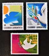 ANNEE INTERNATIONALE DE LA PAIX 1986 - NEUFS ** - YT 1615/17 - MI 1637/39 - Unused Stamps