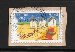 """FRANCE : N° 3788 Adhésif 53 Vacances """"cabines De Plage"""" . - France"""