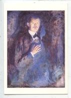 Edvard Munch 1863/1944 Autoportrait à La Cigarette 1895 (cp Vierge) - Pittura & Quadri