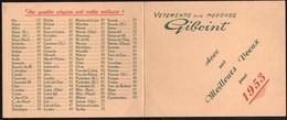 Calendriers > Petit Format : 1941-60 Vienne GIBOINT Vêtements Sur Mesures 1953 - Calendriers