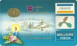 CARTE DE VOEUX ORIGINALE SOUS FORME DE CARTE BANCAIRE - Nouvel An