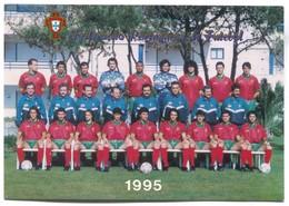 FOOTBALL / SOCCER / FUTBOL / CALCIO - PORTUGAL, National Team, Greeting PC - Calcio