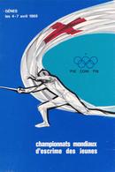 GÊNES / GENOVA - ITALIA : CHAMPIONATS MONDIAUX D' ESCRIME DES JEUNES / FENCING CHAMPIONSHIP - AVRIL 1969 - RRR ! (aa371) - Fechten