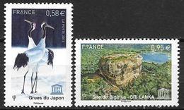 France 2013 Service N° 157/158 Neufs UNESCO à La Faciale - Officials