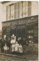 Carte Photo Epicerie Vins Liqueurs  Maison G. Gaultier  Petit Defaut  Beau Plan Livreurs - Winkels