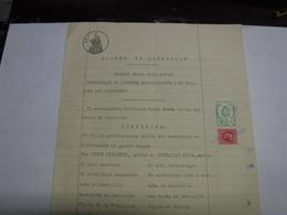 SOVICILLE   -- SIENA      --- MARCA  COMUNALE  --- FISCALI  ---   L.1,50  --  SU DOCUMENTO - Fiscales