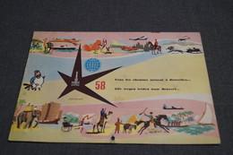 RARE,Expo 58 Bruxelles,superbe Calendrier Delhaize,complet,25 Cm. Sur 17 Cm,collection - Big : 1941-60