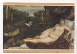 TIZIANO, Venus Recreandose En La  Musica, Venus Delighted By The Music, Unused Postcard [22667] - Paintings