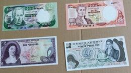 4 Billets Colombie (neufs) - Colombie
