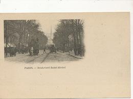 Bd St Michel Paris  Tramway à Cheval  Dos Non Divisé Undivided Back - Arrondissement: 05