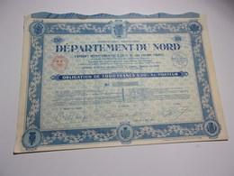 DEPARTEMENT DU NORD (1934) LILLE - Actions & Titres