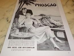 ANCIENNE PUBLICITE DEJEUNER PHOSCAO A LA MER 1931 - Affiches