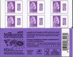 """CARNET Marianne De YSEULT YZ """"UNE MARIANNE POUR L'INTERNATIONAL"""" Avec R.E. à Droite. Produit Très RARE. - Variétés Et Curiosités"""