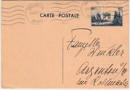 Entier 403 CP2 / 1940 / Défilé 11 Novembre 80 C /  Châteauroux Pour Argenton Sur Creuse  / Indre - Postal Stamped Stationery