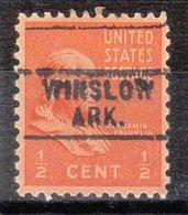 USA Precancel Vorausentwertung Preo, Locals Arkansas, Winslow 729 - Etats-Unis