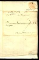 """1748 - """"DINGRANDE/ANJOU"""" - Marque En Noir Sur Lettre Pour SAUMUR (Maine-et-Loire). - Postmark Collection (Covers)"""