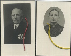 Guillaume Dewals : Oud Burgemeester BERTEM   &  Maria Sevenants  ( Zie Scans ) - Devotion Images