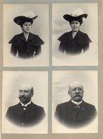 4 Photos Anciennes - Portraits De Famille  -  Gérant Du Comptoir Des Ardoises D'Anjou - Rénazé - Famille Fourcault -Pré - Personnes Anonymes
