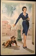 Cartoline Illustrate Umoristiche - AL GUINZAGLIO - Humor