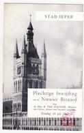 Ieper 1963 - Plechtige Inwijding Vd Nieuwe Beiaard - Programma En Geschiedenis Met Foto's / Minister Van Elslande - Programma's