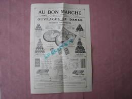 Au Bon Marché 1919  A. Boucicaut Paris  Doc. Dentelles, Carrés Et Bandes, Lettres à Broder  Ect.. - Laces & Cloth