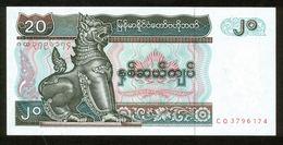 Myanmar 1991-98, 20 Kyats - UNC, Kassenfrisch - Myanmar