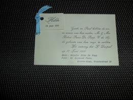 Geboortekaartje ( 391 )  Panis / De Paep  -  Beveren - Waas  1951 - Naissance & Baptême