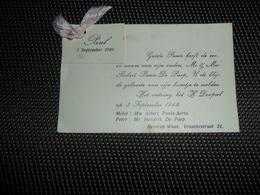 Geboortekaartje ( 392 )  Panis / De Paep  -  Beveren - Waas  1949 - Naissance & Baptême
