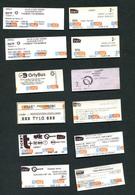 Lot De Tickets De Bus, Métro Et Train Ticket Spécial - Paris / Ile-de-France - Tickets Transportation - Métro