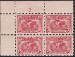 Australia 1931 Kingsford Smith SG 121 Mint Never Hinged Plate 7 - Nuevos