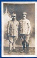 Carte Photo - Soldats Français  -  Officiers  -  6 RI - Guerra 1914-18