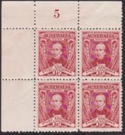 Australia 1930 Sturt SG 117 Mint Never Hinged Plate 5 - Nuevos