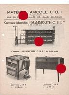 GAND GENT  Matériel Avicole C.B.I. Couveuses Mammouth  Agriculture - Publicités