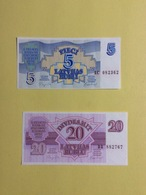 2 Billets Lettonie  (neufs) - Latvia