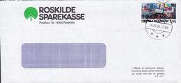 Denmark ROSKILDE SPAREKASSE Brotype IId ROSKILDE 1988 Cover Brief - Briefe U. Dokumente