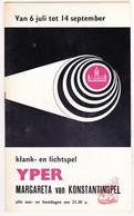 Ieper Yper / Jaren 1960 - Programma Klank- En Lichtspel Margareta Van Konstantinopel - Programma's