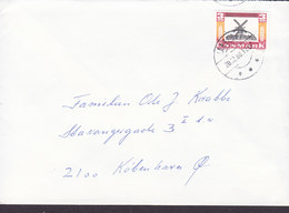 Denmark Brotype IId LANGEBÆK 1988 Cover Brief Wind Mill Mühle Moulin Stamp - Briefe U. Dokumente