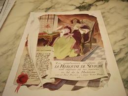 ANCIENNE PUBLICITE CHOCOLATS LA MARQUISE DE SEVIGNE 1946 - Affiches