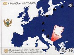 1956-2006 Jubiläum 50 Years EUROPA Crna Gora Block 3 ** 20€ Hojita Map Blocs History S/s Philatelics Sheets Bf CEPT - 2006